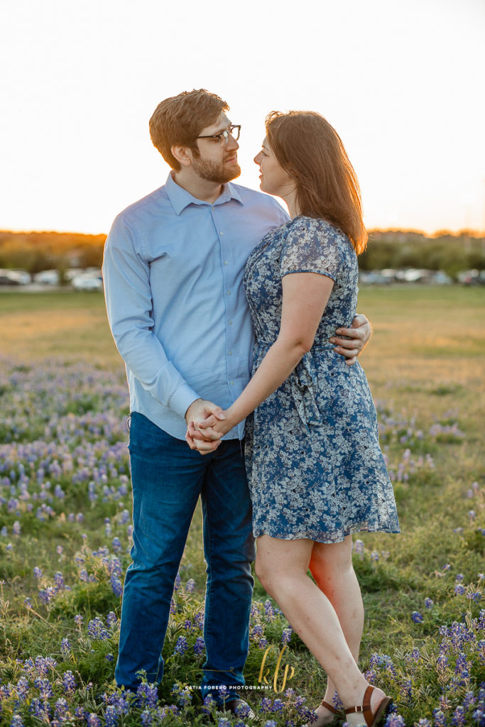 engagements with blue bonnets