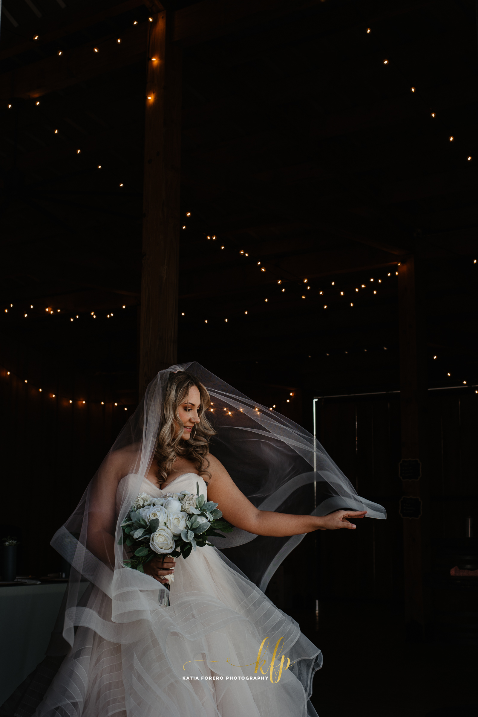 bride portraits at barn