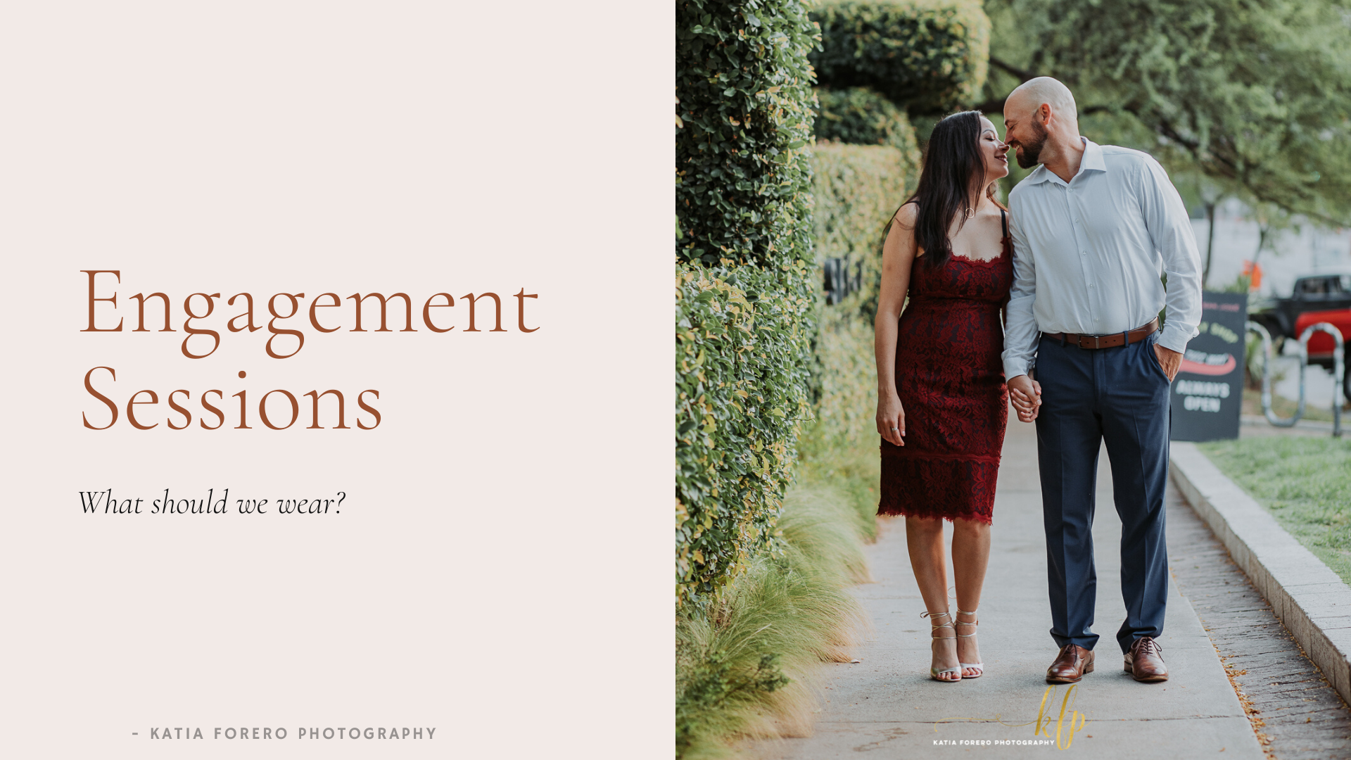 what to wear to an engagement session