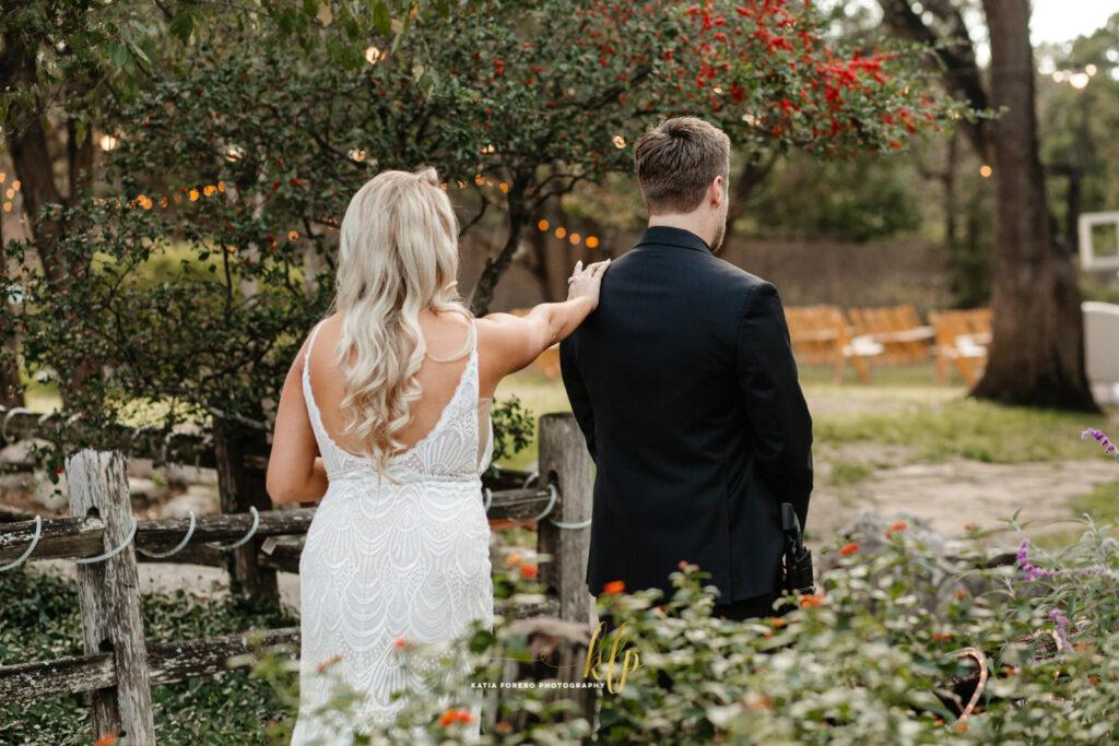 weddings first looks in austin