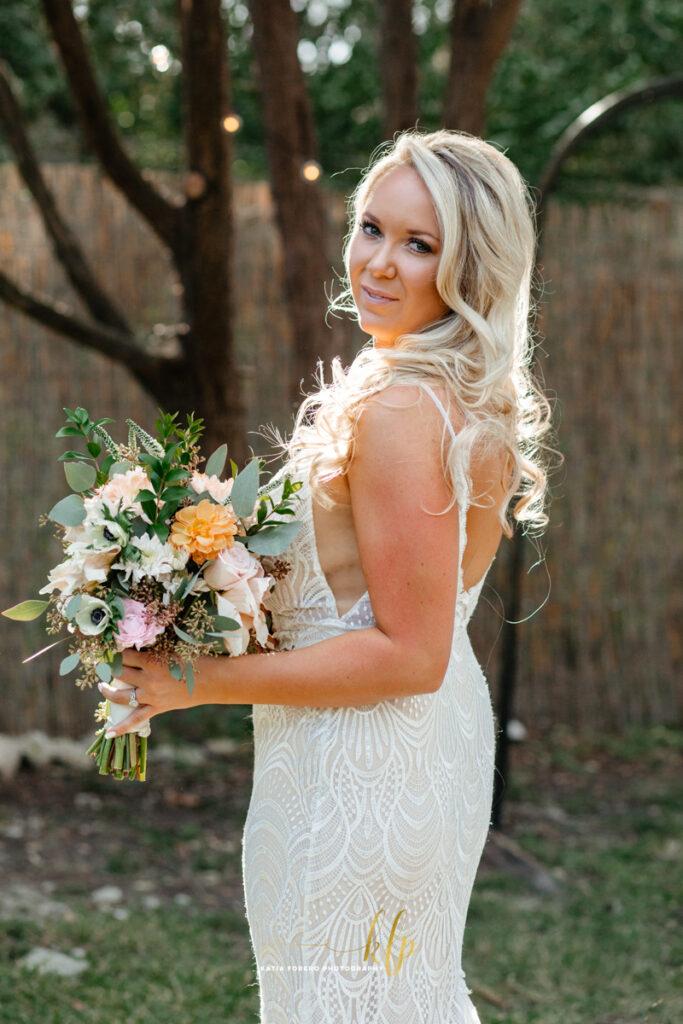 beautiful bride getting married in austin