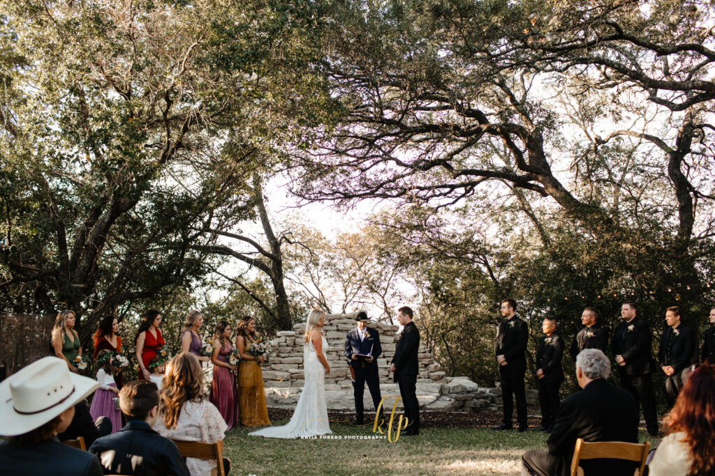 house on the hill outdoor ceremonies in the fall