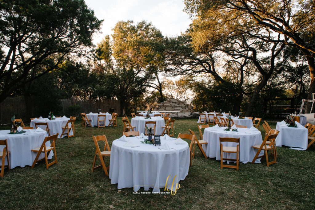 house on the hill outdoor reception