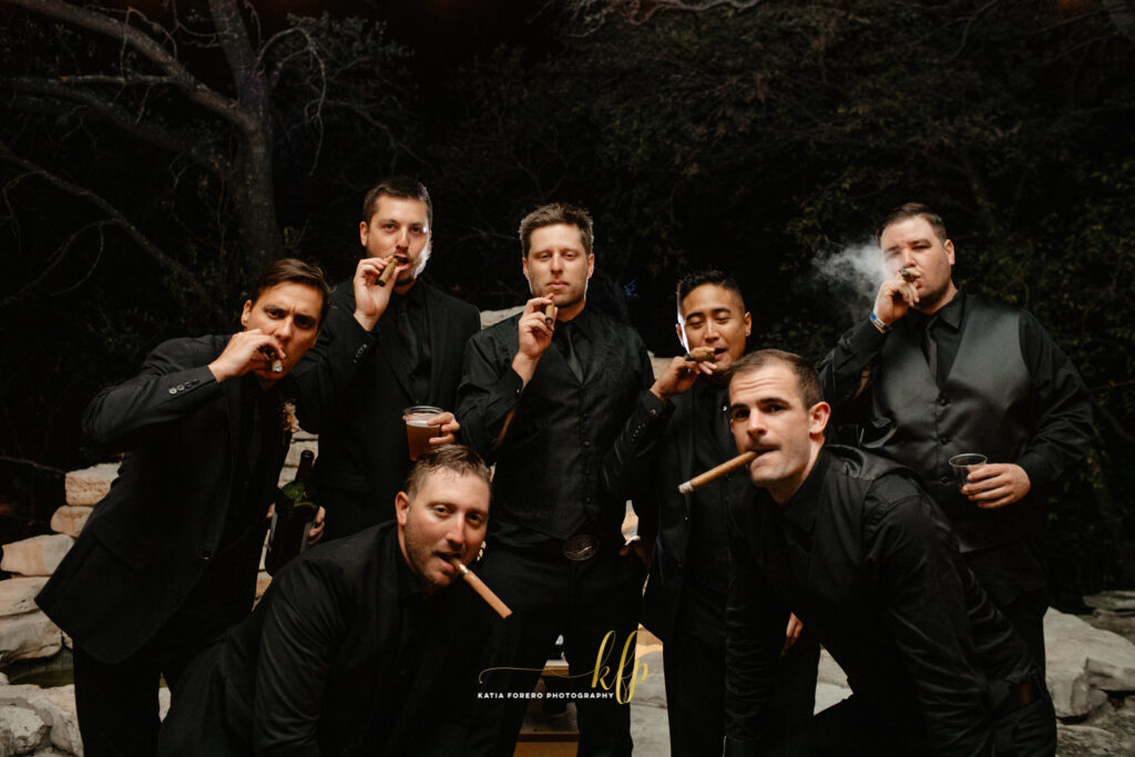 cool picture of groomsmen in austin