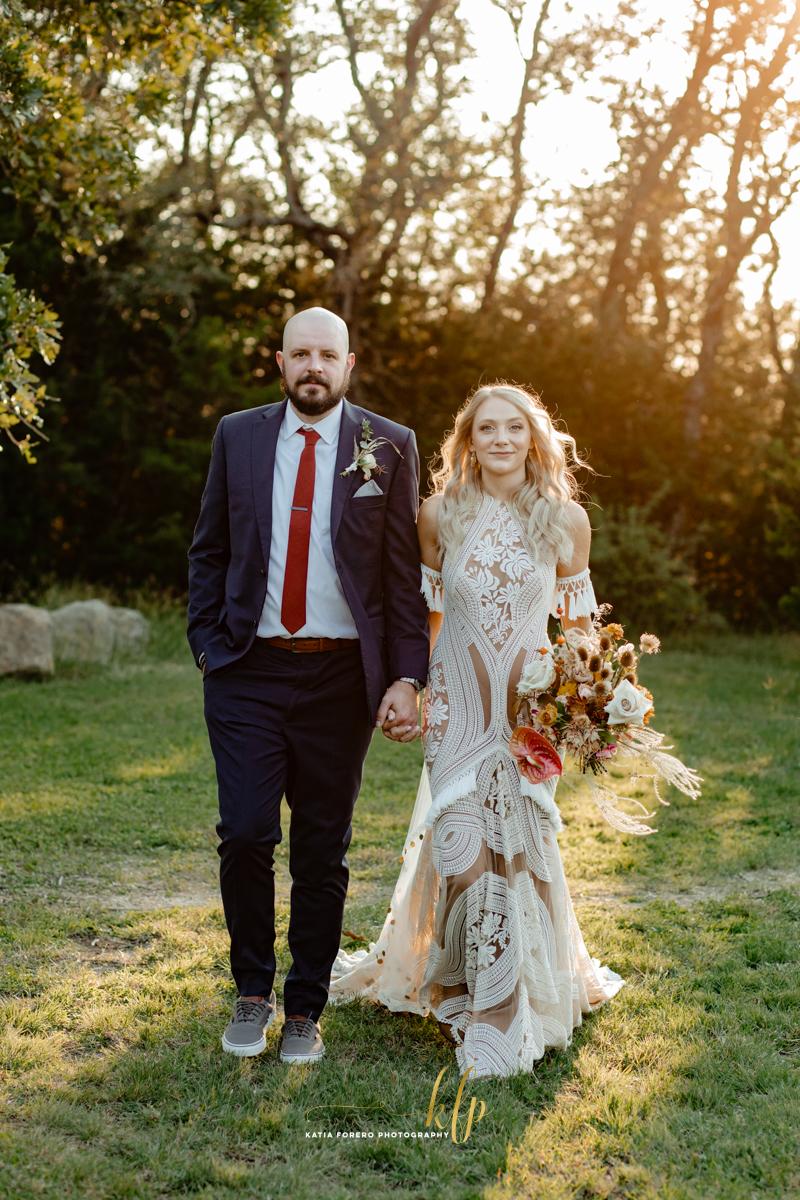 vista west ranch fall wedding